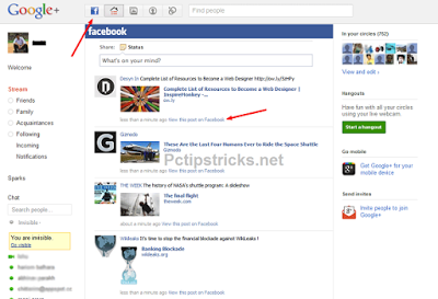 integrate facebook with google plus