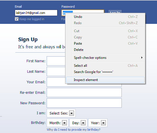 hacking friends facebook password