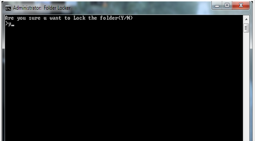 trick to lock folder without any software