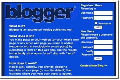 blogger look when lanched