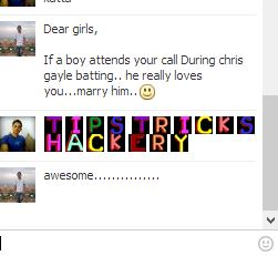 color text in facebook chat