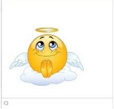 facebook chat emoticons Angel Smiley Face
