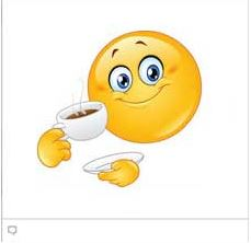 faceboook chat emoticon Coffee Emoticon