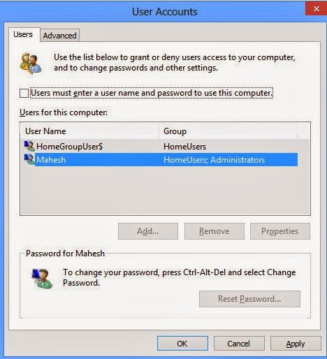 disable kock screen in windows 8