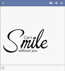 can't smile without you facebook emoticon