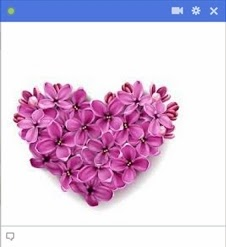 heart of flowers facebook emoticon