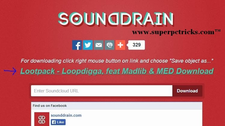 save soundcloud song with sounddrain