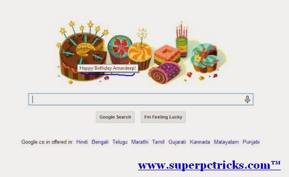 Google Doodle on your Birthday