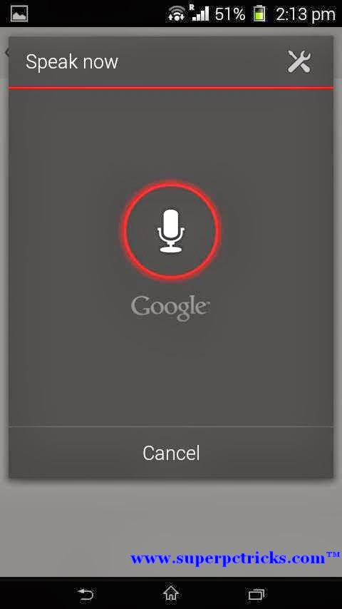 Google Keep Android - voice note