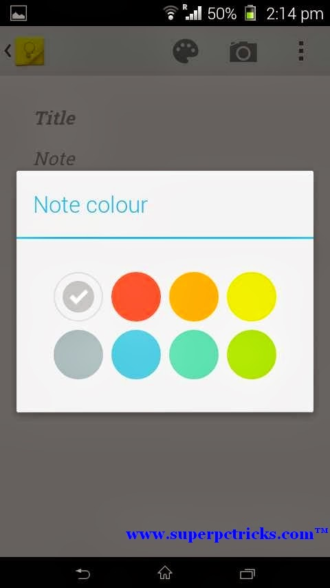 Google Keep Android colorful notes