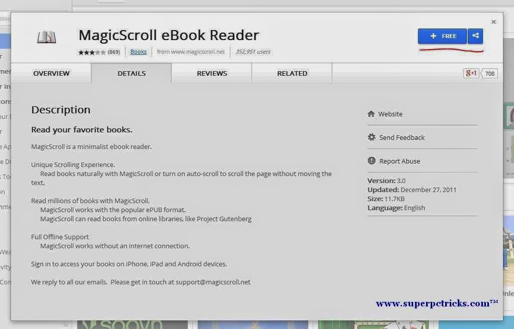 MagicScroll Ebook Reader for chrome