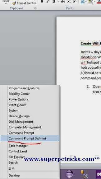 create wifi hotspot windows 7 using command prompt