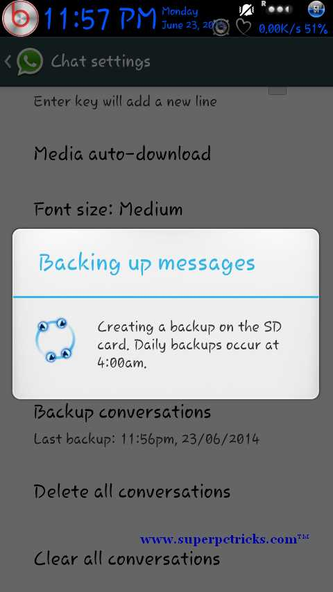 how to read whatsapp backup messages on pc