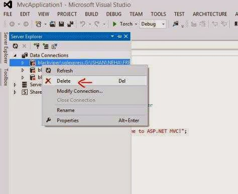 entity framework error