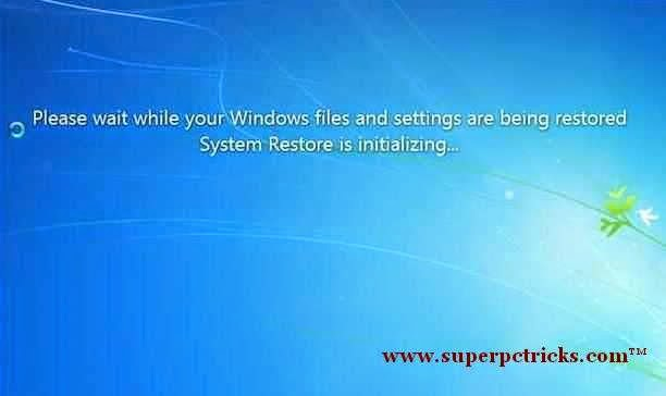 restoring windows settings and files