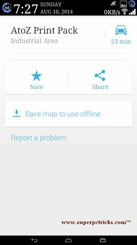 save map for offline use