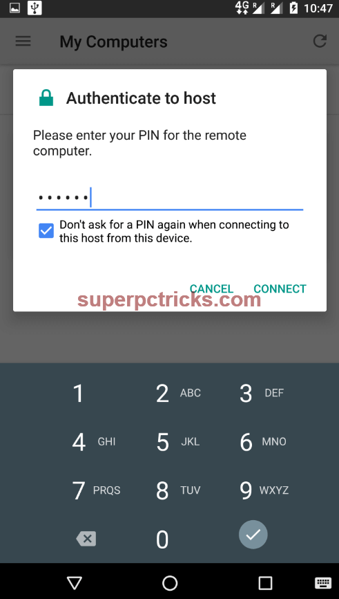 control pc from android phone via wifi