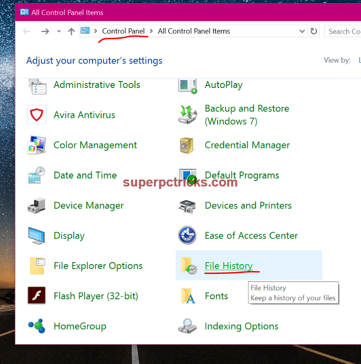 how to make system image windows 109