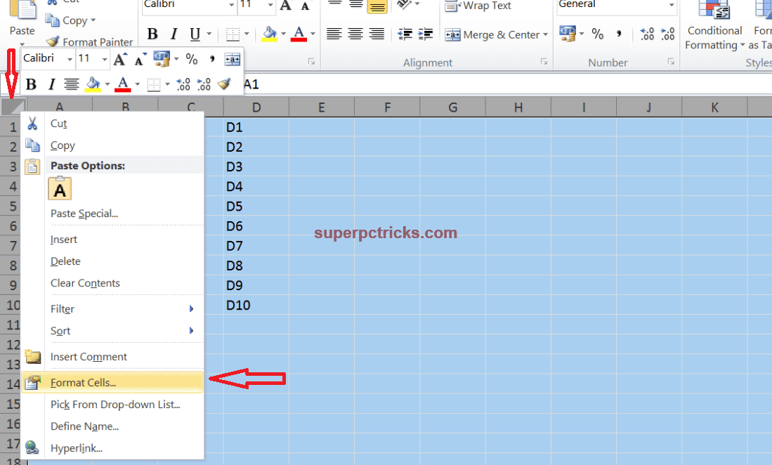 how to protect certain cells in excel 2013
